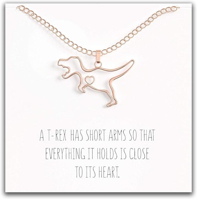 Happy Kisses Dinosaur Necklace