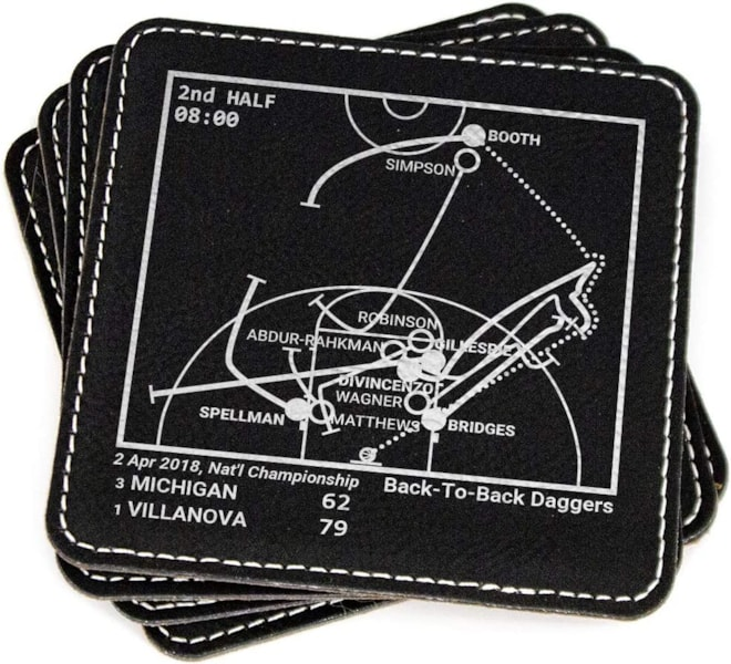 Villanova Greatest Plays Coaster Set