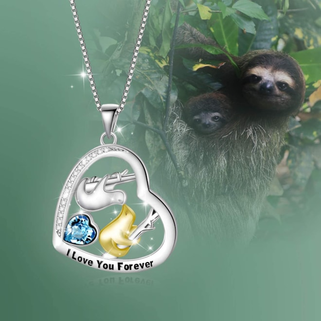 """I love you forever"" Sloth necklace"