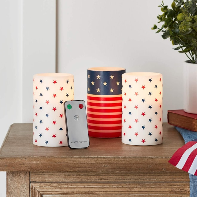 Flameless LED Battery Operated Pillar Candles