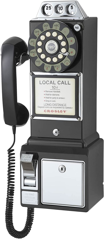 Crosley CR56 1950's Pay Phone -Black