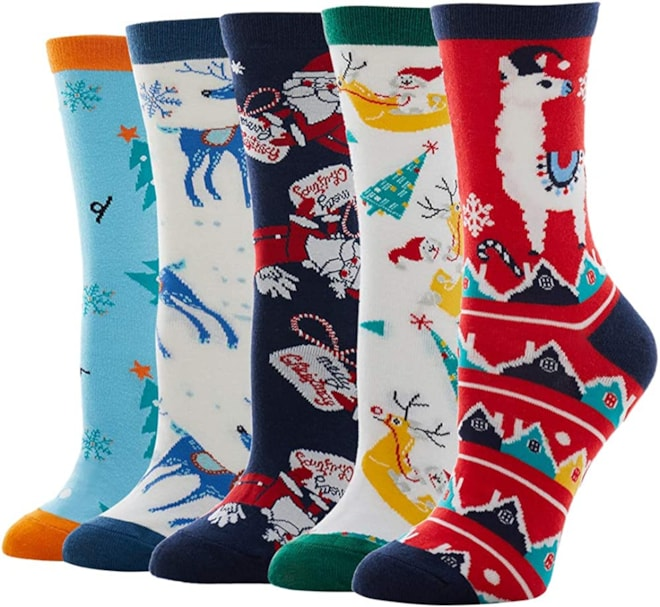Womens' Crazy Funny Christmas Socks