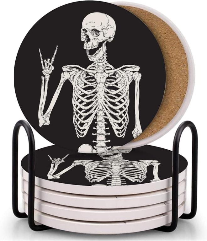 6 Skeleton Coasters