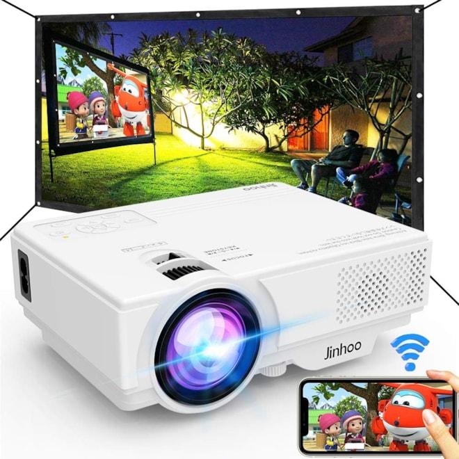WiFi Mini Outdoor Projector w/Screen