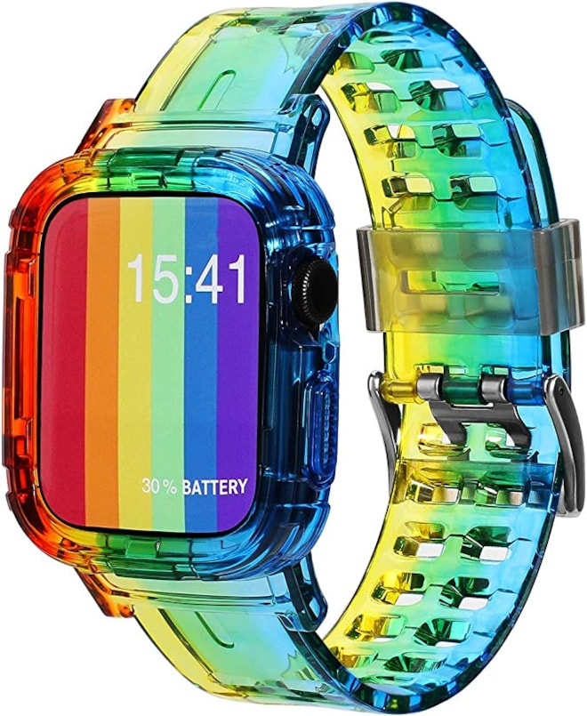 Apple Watch Rainbow Clear Band