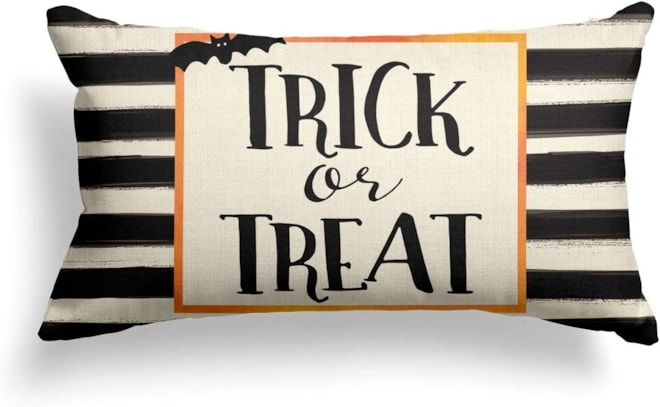 Trick or Treat Throw Pillow Cover