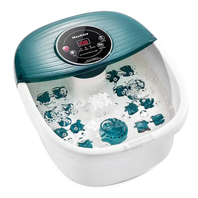 Foot Spa/Bath Massager with Heat, Bulbbles, and Vibration, Digital Temperature Control, 16 Masssage