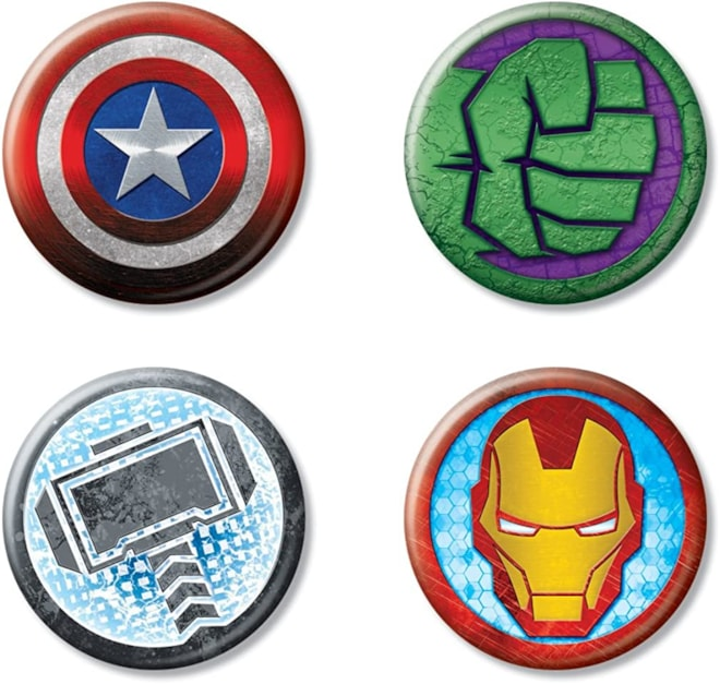 "Ata-Boy Marvel Comics 80th Anniversary Avengers Set of 4 1.25"" Collectible Buttons: Clot"