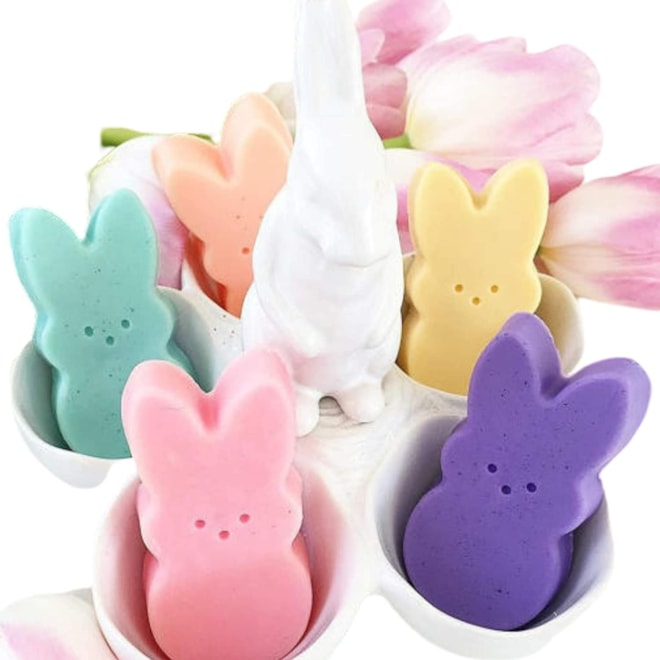 Pastel Bunny glycerin soap Easter basket gifts
