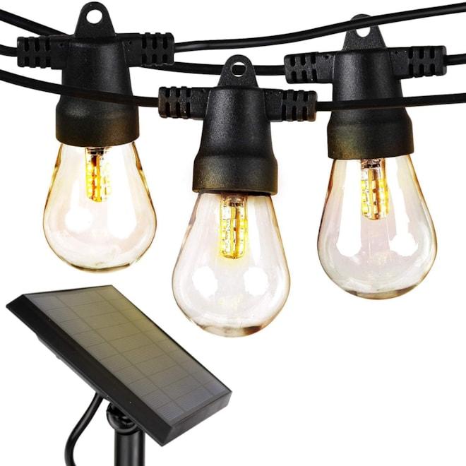 Waterproof LED Outdoor Solar String Lights - Vintage Edison Bulb