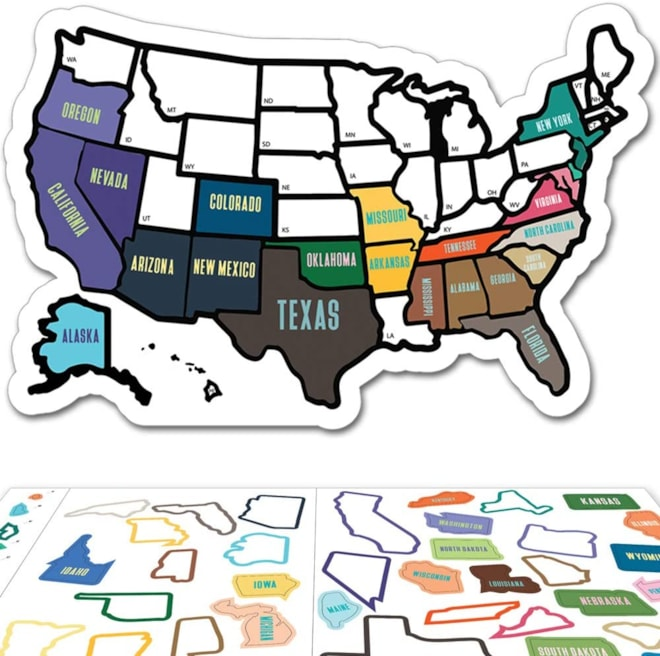 RV State Sticker Travel Map