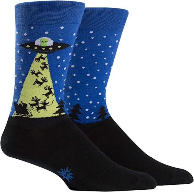 The Alien Who Stole Christmas Crew Socks