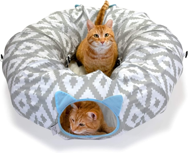 Kitty City Large Multifunction Cat Tunnel and with Central Mat
