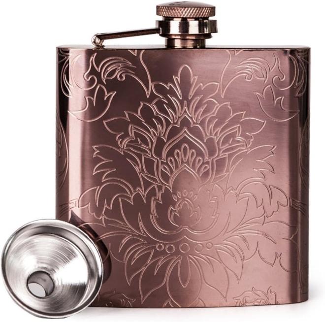 Copper Hip Flask