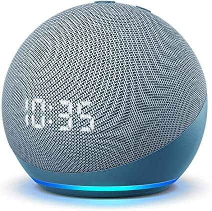 Echo Dot (4th Gen) | Smart speaker with clock and Alexa=