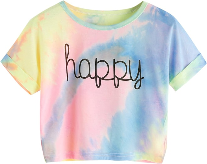 Happy Tie Dye Crop Top