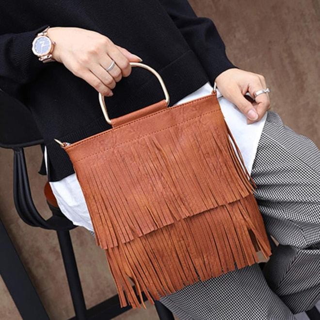 Ayliss Fringe Tassel Crossbody Bag