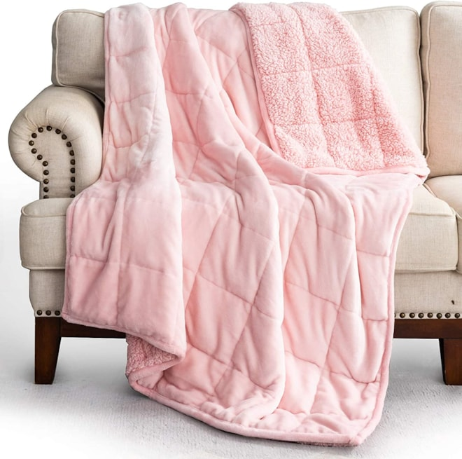 Sherpa Weighted Blanket 15lbs Twin /Full Size Bed
