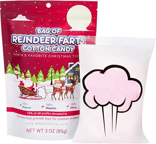 Bag of Reindeer Farts Cotton Candy