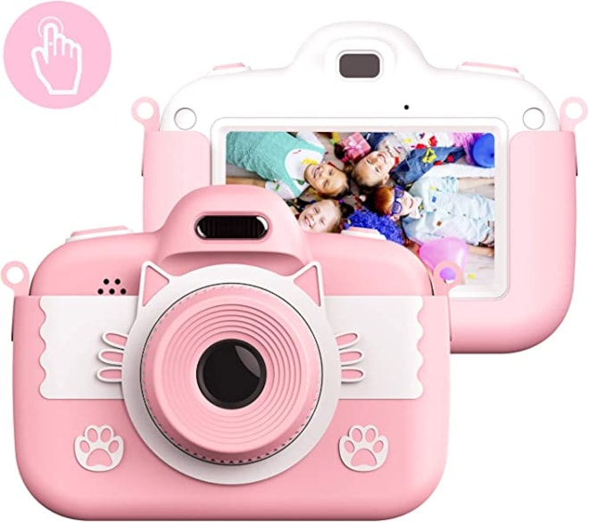 Themoemoe Kids Camera Toys for 3-12 Year Old Girls, Children's Digital Camera 3 Inch Touch Screen 8.