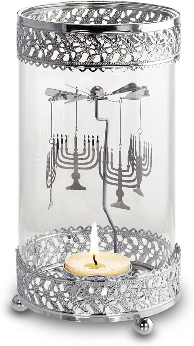 Hanukkah Metal Spinning Tea Light Holder