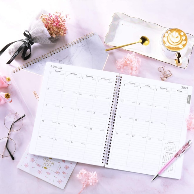 "Bloom 2021 Planner - Weekly & Monthly Planner with Marked Tabs, 8.5"" x 11"", Jul 21 -Jul 22"