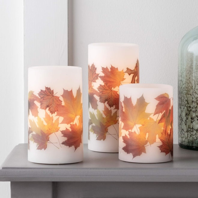 Fall Leaf Battery Operated Candles