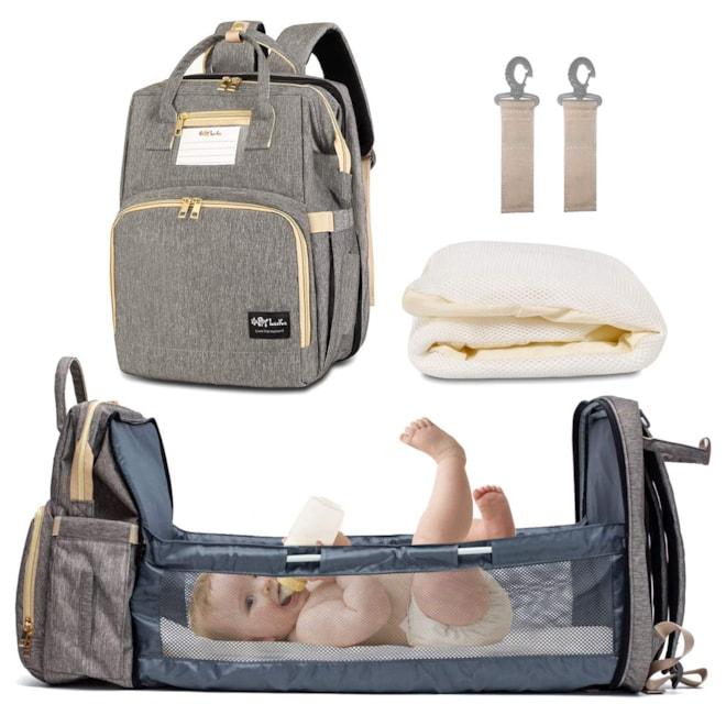 Diaper Bag with Auto Folding Crib