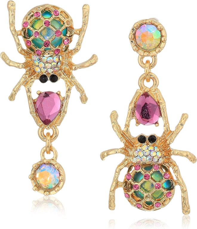 Betsey Johnson Spider Drop Earrings