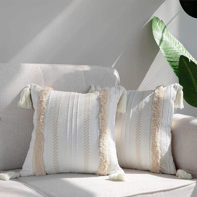Boho Neutral Throw Pillow Covers