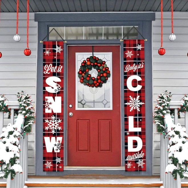 Winter Holiday Porch Sign