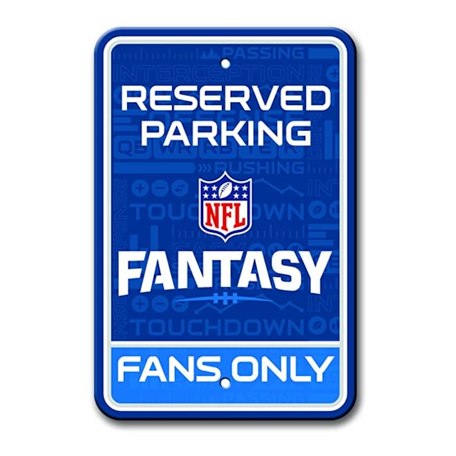 NFL Fantasy Football Parking Sign