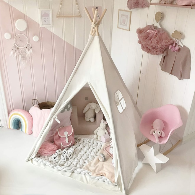 Kids Teepee with Mat & Carry Case