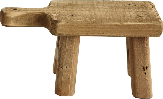 Small Wood Pedestal with Handle