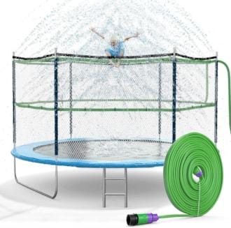 Trampoline Sprinkler Waterpark Fun