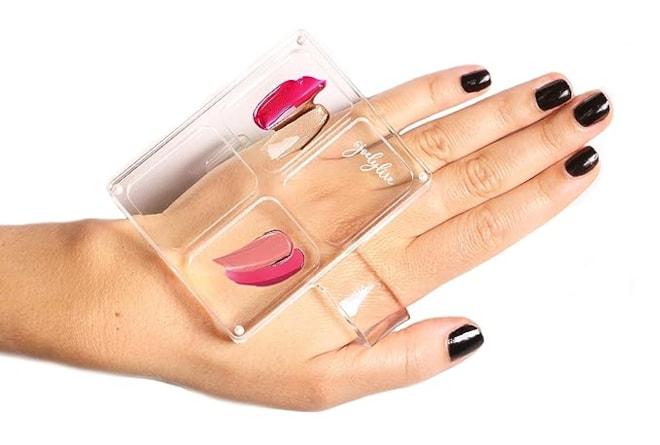 Lidded Makeup Mixing Hand Palette