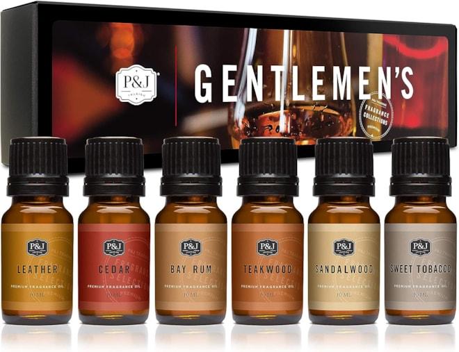 Gentlemen's Set of 6 Premium Grade Fragrance Oils