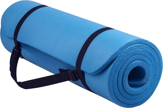 Anti-Tear Exercise Mat with Strap