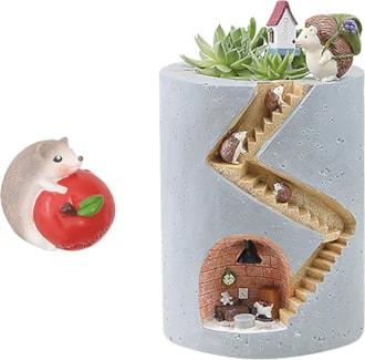 Succulent Planter Hedgehog Home