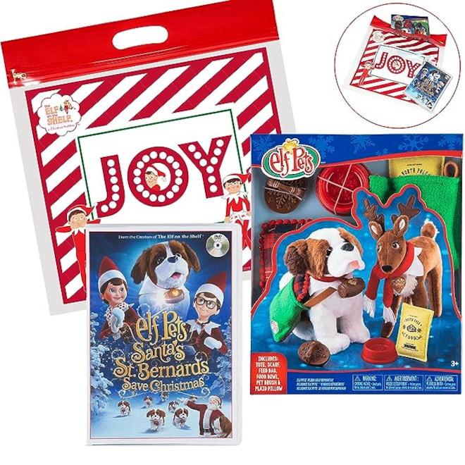 The Elf on the Shelf Elf 2018 Pets Christmas Set, with Elf Pets Good Tidings Accessory Set
