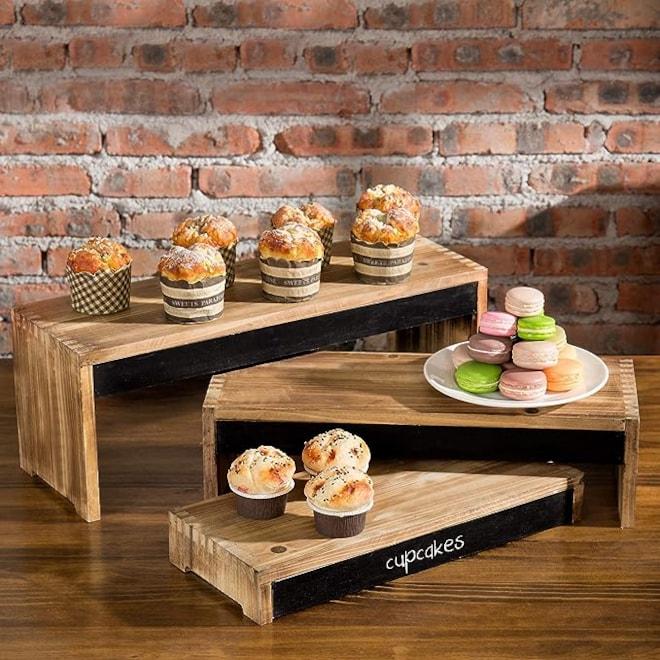 Rustic  Wood Dessert Display Stands