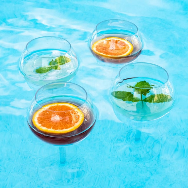 Floating Wine Glasses Set of 2