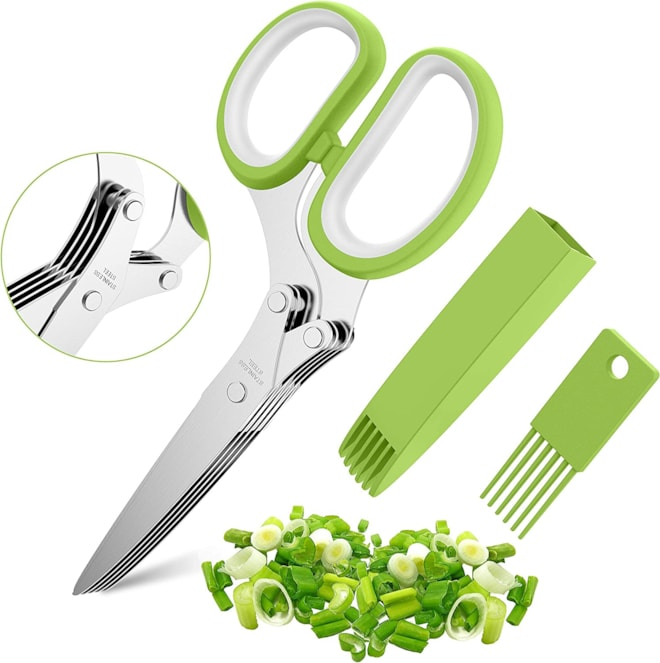 Herb Scissors Set with 5 Multi Stainless Steel Blades
