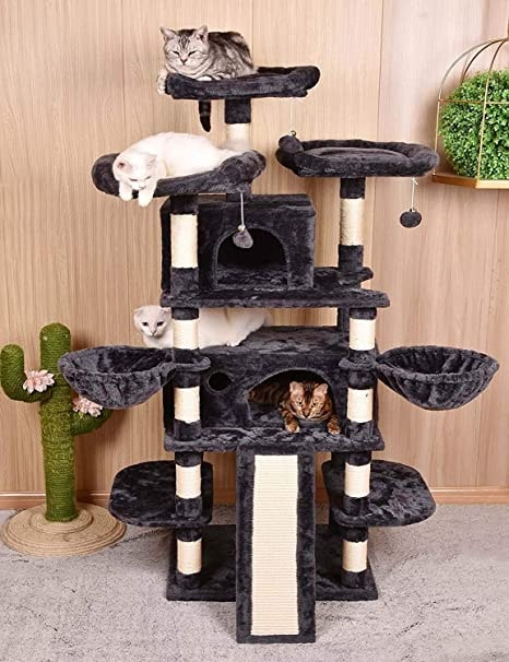 Heavy Duty 68 Inch Multi-Level Cat Tree, Cat condo 68 inch