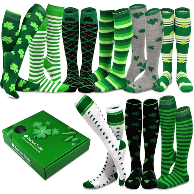 TeeHee Women Knee High 9-Pairs Socks with Gift Box
