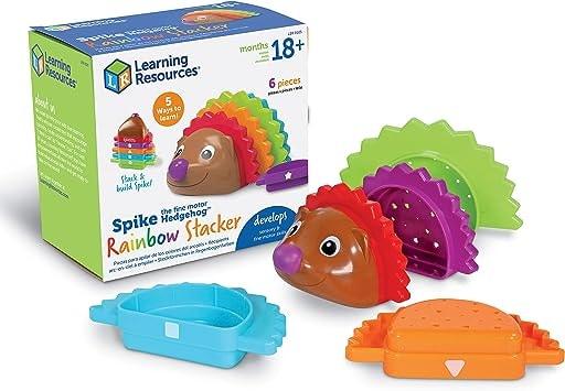 Spike The Fine Motor Hedgehog Rainbow Stackers