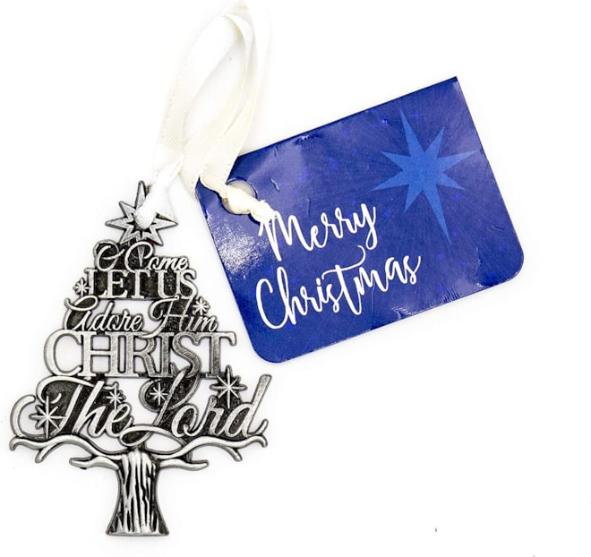 Silver Christmas Hanging Ornament
