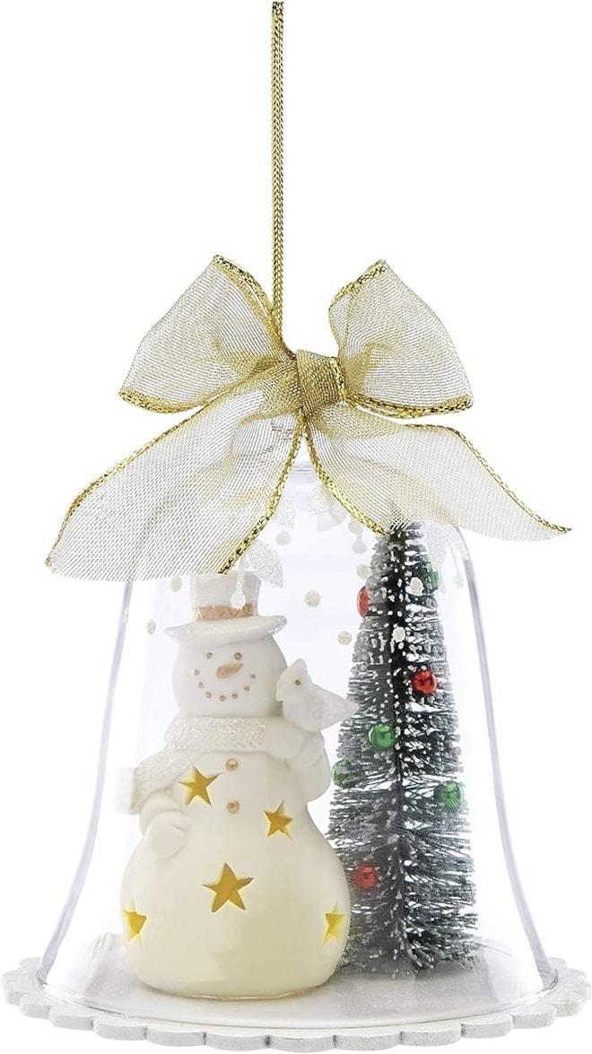 Lenox Light-Up Wonderbell Snowman Ornament
