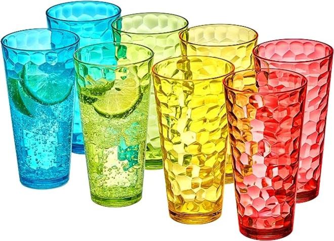 Plastic Tumblers Set of 8