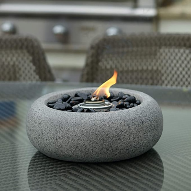 Grey Table Top Fire Bowl